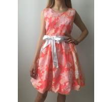 Сарафан розовый юбка боченок