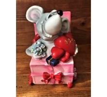Копилка Мышь Подарок