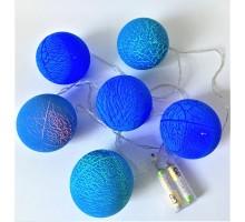 Светодиодная гирлянда-шарики Синий 6 шт.