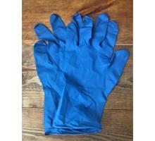Перчатки одноразовые Manual HR419 смотровые нестерильные латекс синие