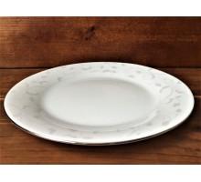 Тарелка белая с серебром малая