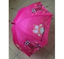 """Зонт трость детский """"Сова"""" розовый д.83 см"""