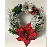 Рождественский венок Бол.рожд. цветок 2 ветки