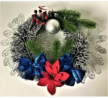 Рождественский венок Шар+2 листа+2 банта