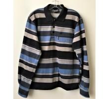 Рубашка-поло мужская с длинным рукавом утепленная
