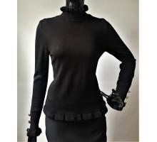 Водолазка женская на рукавах пуговки