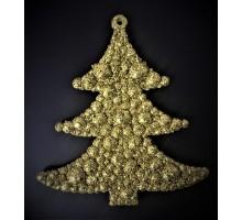 """Новогоднее подвесное украшение """" Золотая ель"""""""
