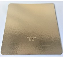 Подложка картон д/торта 300*300мм золото
