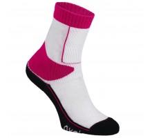 Носки для катания на роликах для детей розово-белые PLAY OXELO