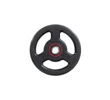 Обрезиненный диск с рукоятками 28 мм, 5 кг для силовых упражнений DOMYOS