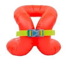 Жилет плавательный надувной оранжевый (для веса 18–30 кг) NABAIJI
