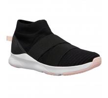 Кроссовки для фитнеса на лентах без шнурков черные 500 DOMYOS