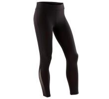 Легинсы для спортивной гимнастики для девочек 500 черные с блёстками DOMYOS