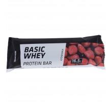 Батончик с высоким содержанием белка со вкусом клубники в молочном шоколаде 50 г DOMYOS