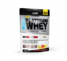 Протеин 100% Платинум Вей / 750г / клубника-банан VPLAB