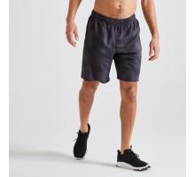 Шорты мужские для фитнеса черные DOMYOS