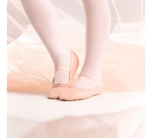 Полупуанты д/клас. танца с цельной кожаной подошвой роз. со шнурком разм. 25-40 STAREVER
