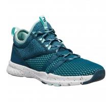 Кроссовки для фитнеса женские зеленые 140 mid DOMYOS