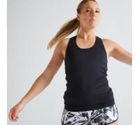 Майка для фитнеса и кардиотренировок женская MY TOP 100  DOMYOS