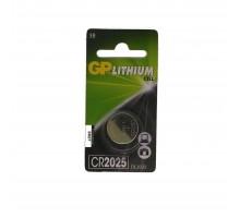 Батарейка CR2025 1 шт. 3 вольта GP