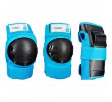 Комплект из 3 эл-тов защиты д/роликов, скейтборда, самоката детский синий BASIC OXELO