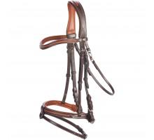 Уздечка для верховой езды 580 SURPIQUE коричневая - размер лошади FOUGANZA