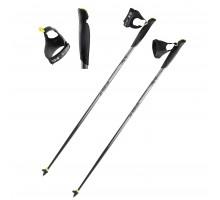 Палки для скандинавской ходьбы NW P100 черные/серые NEWFEEL