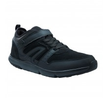 Кожаные мужские кроссовки для активной ходьбы Actiwalk Easy Leather черные NEWFEEL