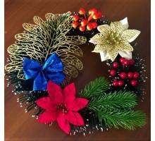 Рождественский венок 1 золотой лист