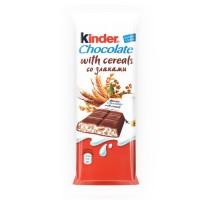 Шоколад Kinder со злаками и молочно-злаковой начинкой Киндер Кантри 23.5 г