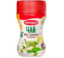 Чай Semper мята лимонная-груша гранулированный 200г с 5месяцев