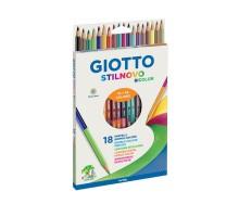 Карандаши цветные GIOTTO Stilnovo Bicolor 2сторонние 36цветов