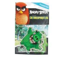 Пешеходный светоотражатель 1TOY Angry Birds  (зеленый)