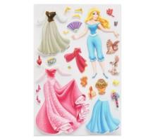 Наклейка декоративная лицензионная Disney Аврора с нарядами