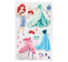 Наклейка декоративная лицензионная Disney Ариель с нарядами