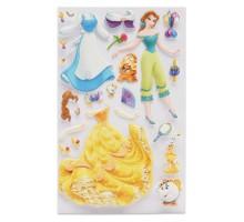 Наклейка декоративная лицензионная Disney Белль с нарядами