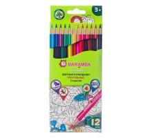 Цветные карандаши Baramba 12 цветов треугольные