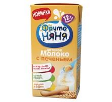Молоко с печеньем ФрутоНяня 2.4% 200мл c 12месяцев