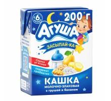 Каша Агуша молочная злаки груша банан 2.7% 0.2л с6месяцев