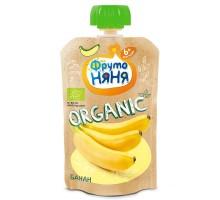 Пюре ФрутоНяня Organic из бананов натуральное 90г с 6месяцев