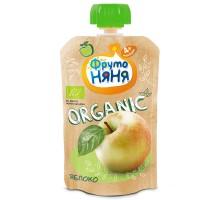 Пюре ФрутоНяня Organic яблочное натуральное 90г с 4месяцев
