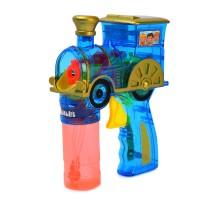 Пистолет для выдувания мыльных пузырей Attivio Паровозик +2 бутылочки 60 мл