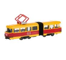 Трамвай Технопарк с гармошкой инерционный