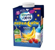 Кашка молочная ФрутоНяня 5злаков с клубникой и бананом 0.5л с 3лет