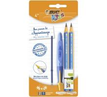 Набор BIC Старт ручка карандаш чернографитовый ластик стержень