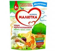 Каша Малютка мультизлаковая-яблоко-груша-слива 220г с 6месяцев