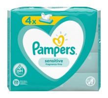 Cалфетки влажные Pampers Sensitive Quadro 208шт