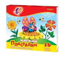 Пластилин Луч Кроха мягкий 16цветов