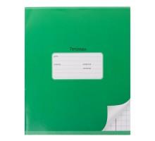 Тетрадь школьная Мировые тетради А5 Крупная клетка 12л Зеленый