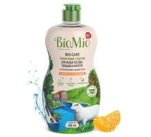 Экологичное средство для мытья посуды, овощей и фруктов BioMio BIO-CARE (с эфирным маслом мандарина и экстрактом хлопка) 450 мл
